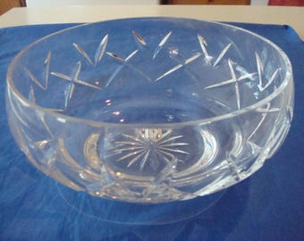 Atlantis Lead Crystal Clear Glass Center Bowl