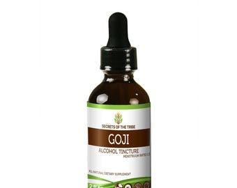 Goji Alcohol Liquid Extract, Organic Goji (Lucii, Lycium Barbarum) Dried Berries