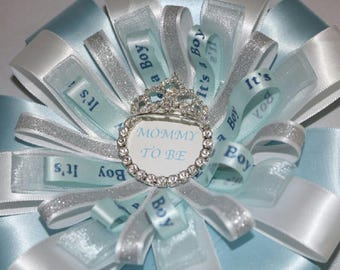 Mommy to be bling ribbion
