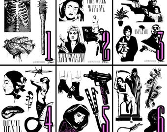 The Wolf Rosario Tattoo Flash Sheets 1-6
