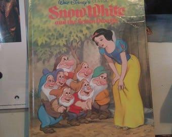 Vintage Disney - Snow White & the Seven Dwarfs - Big Golden Book