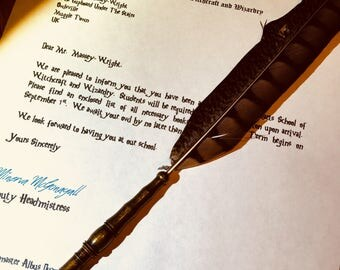 Harry Potter inspired PERSONALISED Acceptance letter pack.