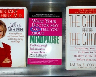 Trio of Informative Books on Menopause All 3 Books In Very Good Condition