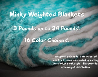 Minky Weighted Blanket Adult, Weighted Blanket for Adults, Weighted Blanket Child, Minky Blanket, Sensory Blanket, Gravity Blanket, Anxiety