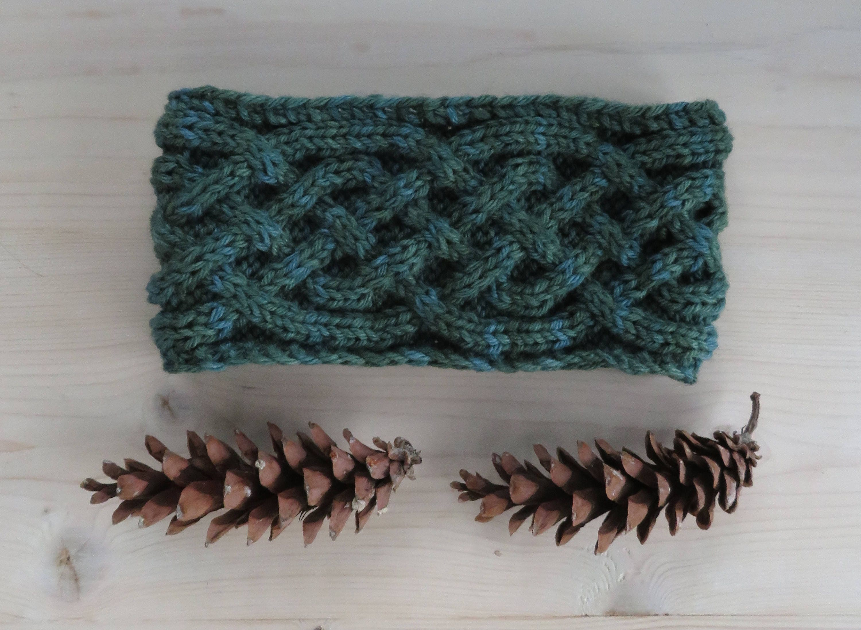 KNITTING PATTERN - cabled headband with Saxon braid, knitted cable ...