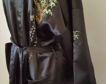 Embroidered Chinese Robe Lounge Wear Size L / XL