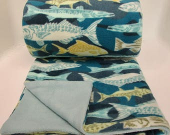 Fish Fleece Blanket Throw