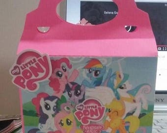 My little pony custom gable box/for party favors/personalized boxes/ birthday boxes
