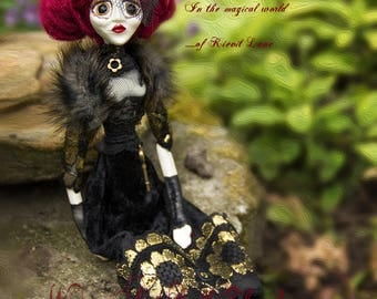 Wiccan Art Doll Theodora the Victorian Boho witch