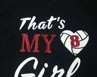 Volleyball mom t-shirt/my daughter/softball t-shirt
