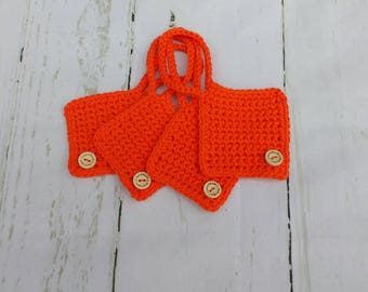 Crochet cotton luggage /suitcase tags travel accessories