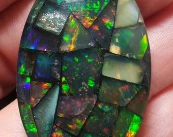 Huge Opal Triplet Mosaic 36 x  23 x 7.3 mm