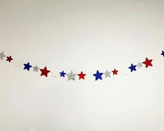 4th of July Banner - Patriotic Banner - Red, White, & Blue Star Banner - Star Banner - 4th of July Decorations - 4th of July Party Decor