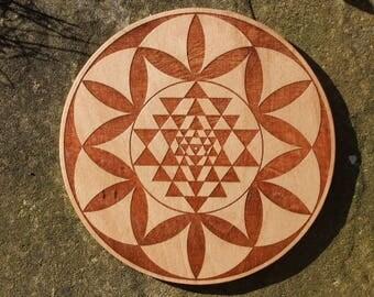 Sri Yantra Seed - Crystal Grid