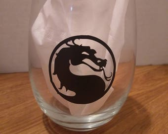Mortal Kombat wine glass
