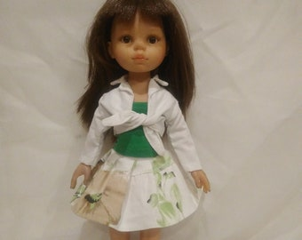 Skirt, blouse and bolero for Paola Reina doll