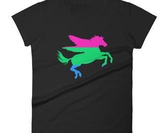 Polysexual Pegasus Women's short sleeve t-shirt lgbtq lgbt lgbtqipa queer gay transgender mogai