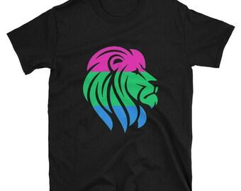 Poly Pride Lion Unisex T-Shirt  lgbt lgbtqipa lgbtq mogai pride flag bi pride