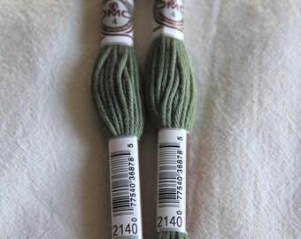 Green cotton yarn for canvas plied DMC 89 N 2140