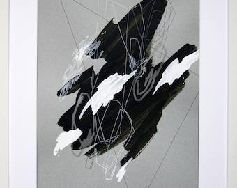 Original abstract illustration, no. 0631, mixed media on paper, 35x50cm. 2017
