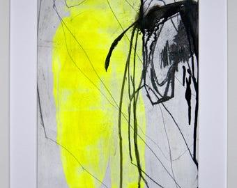 Original abstract illustration, no. 0644, mixed media on paper, 35x50cm. 2017