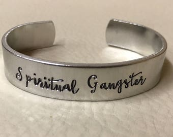Spiritual Gangster cuff <Copper, Brass or Aluminum>