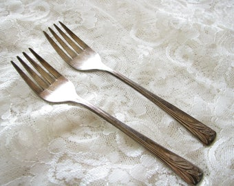 Magic Lily Sincerity fork Silver plate fork Salad fork Dessert fork Sincerity Silver Plate Cake fork 1955 Replacement Shabby table decor