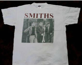 JULY SALE 20% OFF Vintage 90S The Smiths T Shirt Discography Tour Concert sz xL good condition