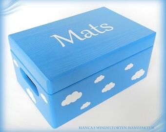 Wooden box with top storage box children's toy box treasure chest