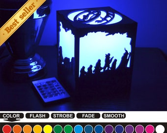 Lord of the Rings, color nightlight, color lantern, color led nightlight, color led lantern, wood nightlight, wood lantern, Lord of Rings-1
