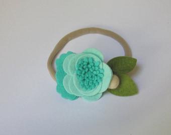 little girl headband, toddler headband, toddler flower headband, girl flower headband, little girl flower headband, felt flower headband
