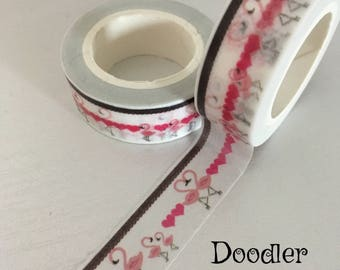 Flamingo washi tape, washi tape