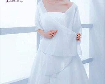 Bridal stola (shawl) of chiffon