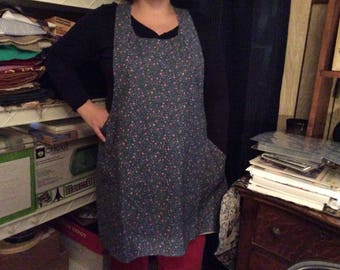 Apron / smock ladies cross back...lined or reversible...easy on and off no ties...one size fits most