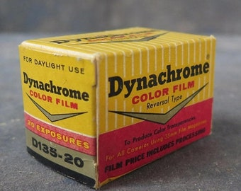 Antique Dynachrome Color Film empty box from the 1960s