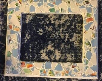 8 by 10 Light Blue Mosaic Frame