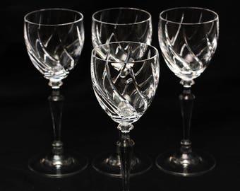 Vintage Mikasa Leighton 3oz Crystal wine glasses set of 4