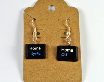 Customizable Keyboard Earrings, computer key earrings, tech earrings, computer earrings, recycled earrings, geek jewelry, computer jewelry
