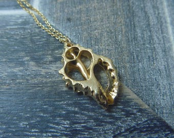 Gold Plated over Brass shell necklace