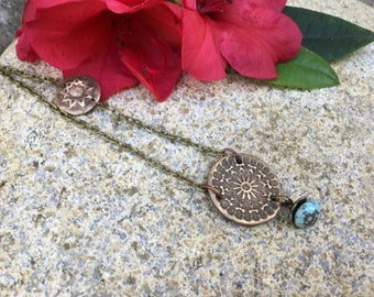 Ancient Beauty Necklace with Turquoise stone bead