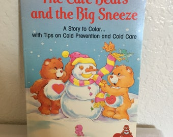 1987 Care Bears and the Big Sneeze mini coloring book.