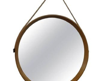 Scandinavian Circular Wall Mirror of a & Östen Kristiansson for Luxus, 1960s