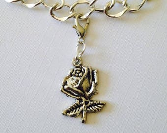 Rose Bouquet Charm For Bridesmaid, Purse Charm For Handbags, Beauty and The Beast Hen Party Favors, Stocking Gifts For Girls,