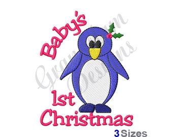 Babys First Christmas - Machine Embroidery Design