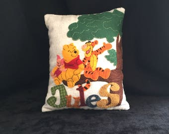 "Wool and felt cushion ""Jules"""