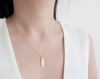 Personalized Name Bar Necklace, Name necklace, personalized necklace, gold bar necklace