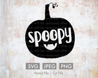 Spoopy Pumpkin - Vector / Cut File - Silhouette, Cricut, SVG, PNG, JPEG, Clip Art, Stock Photo, Download, ai, Fall, Spooky, Jack-o-lantern