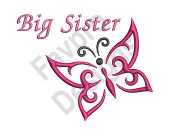 Big Sister Butterfly - Machine Embroidery Design