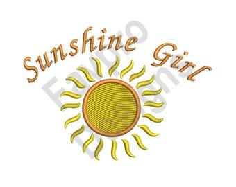 Sunshine Girl - Machine Embroidery Design