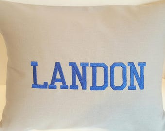 12 X 16 Personalized Pillow Cover, Name Pillow, Kids Pillow